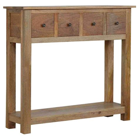 Handmade Console Table - handmade mango 4 drawer console table console