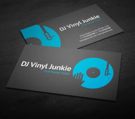dj business card template amazing dj business cards psd templates design graphic