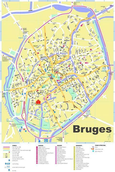 belgium attractions map bruges tourist map