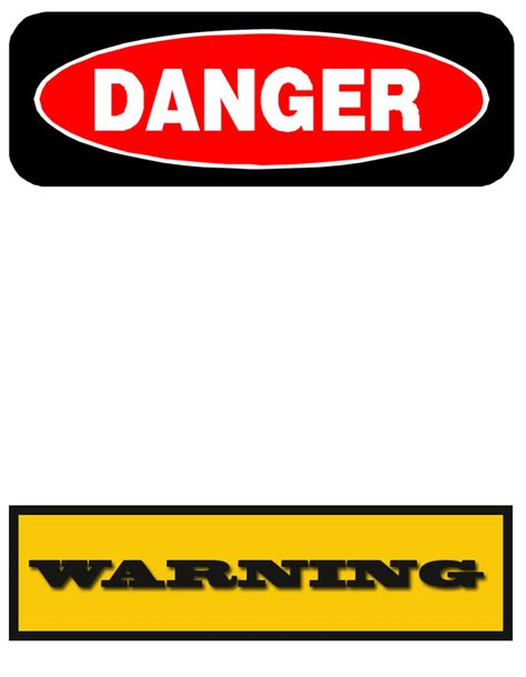 templates for signs free printable warning signs cliparts co