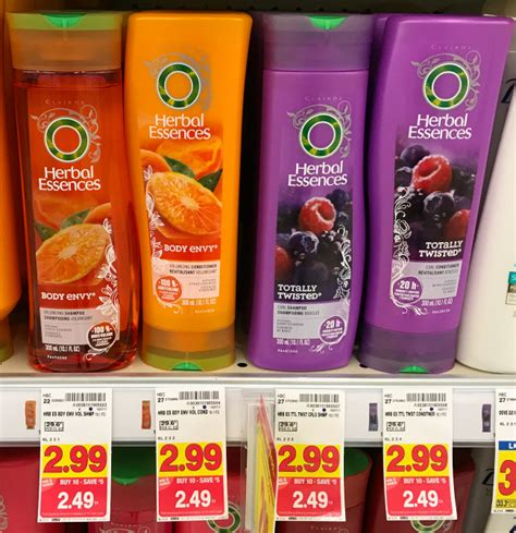 kroger mega sale herbal essences hair care only 0 69 herbal essences aussie hair care only 1 49 with kroger