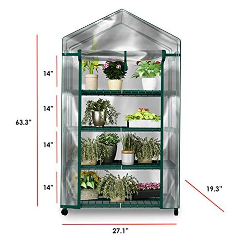plant greenhouse  wheels  clear cover  tiers rack