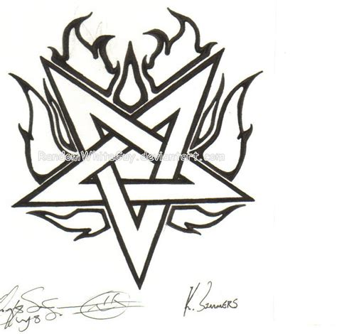 random tattoo designs pentagram by dasatanists on deviantart