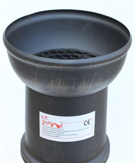 chiminea pipe foxhunter garden cast iron steel chimenea chiminea chimnea