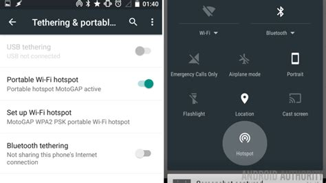 mobile hotspot for android how to setup mobile hotspot on android android authority