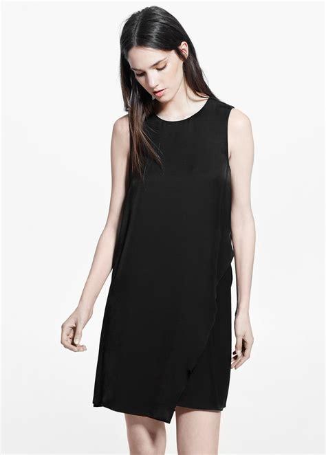 Black Layer Dress W8211usn I lyst mango layer dress in black