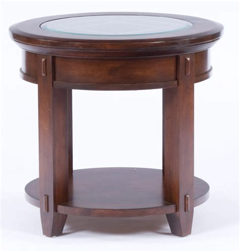 accent end table furniture round accent end table with rustic iron legs by