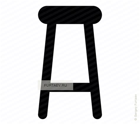 Transparent Bar Stools by Bar Stool Icon Vector Free