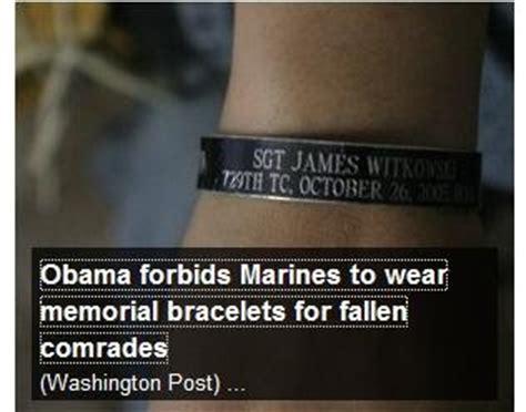 usmc kia bracelets limbaugh report obama forbids marines from wearing