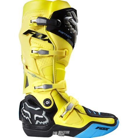 hinged motocross boots fox racing instinct yellow motocross boots bottes moto