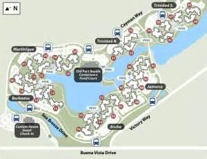Disney World Caribbean Beach Resort Map by Disney S Caribbean Beach Resort