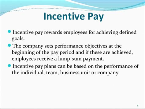 Business Unit Controller Salary Without An Mba by Incentive Pay And Team Based Pay By Dr G C Mohanta