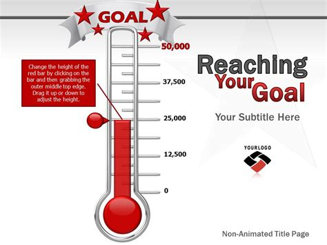 Ppt Fundraising Thermometer Nathan S Blog Fundraising Powerpoint Template