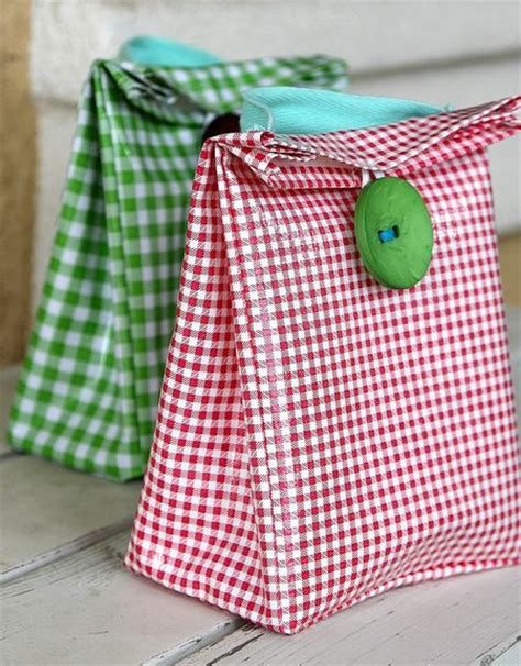 Handmade Lunch Bags - diy lunch boxes and bags for