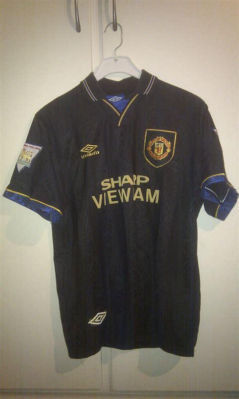 Patch Premier League 1993 1996 1993 1994 away shirt cantona 7 pl patches 171 manchester