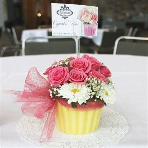 Vase Centerpieces For Baby Shower by Cupcake Vase Centerpiece Flowers Birthday Christening