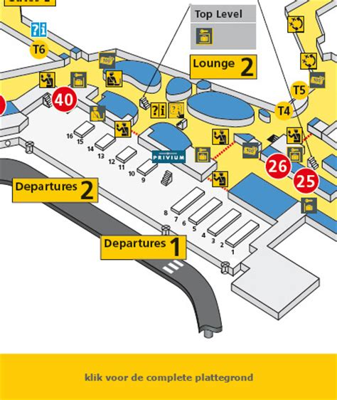 schiphol vertrekhal plattegrond schiphol - Schiphol Departures 1