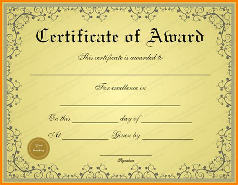 award certificate template free 4 paper awards certificates free sle of invoice