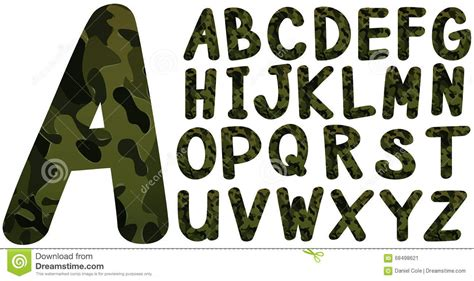 english font design online english font design with military theme stock vector