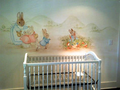 rabbit mural painted murals for children
