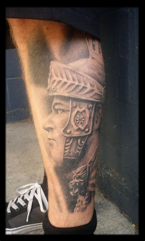 roman tattoo warrior warrior