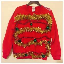 ugly christmas tree sweater tutorial long sweater jacket