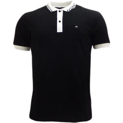 Polo Square Checked Black merc black slim fit checkered collar polo polos mr h