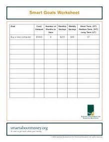 smart goals worksheets abitlikethis