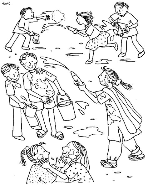 Holi Coloring Pages Coloring Home Holi Colouring Pages