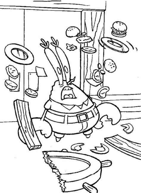 tumble leaf coloring pages mr krabs coloring page coloring home