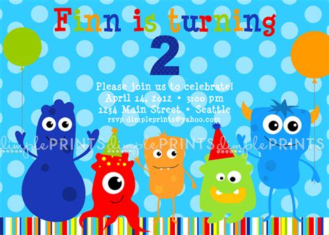 free printable monster birthday decorations monster birthday party printable invite dimple prints shop