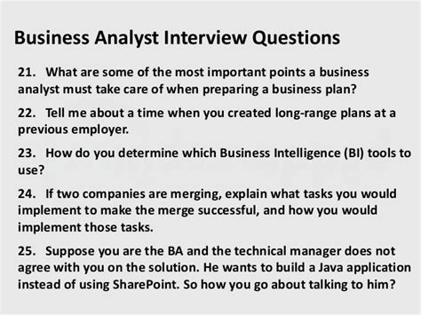 Business Analyst Part Of Mba Explain by Business Analyst Questions Part 2