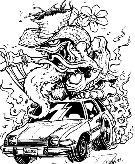 rat fink coloring pages related keywords rat fink