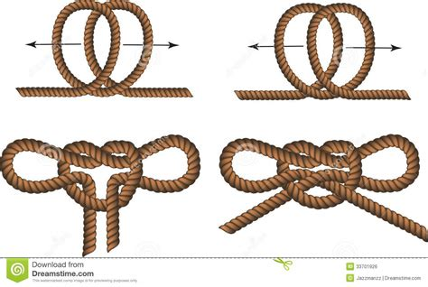 How To Splice A L Cord by Brown Rope Borders With Knots Stock Vector Image 33701926
