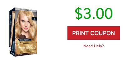 loreal hair color coupon save 3 l oreal superior preference hair colour