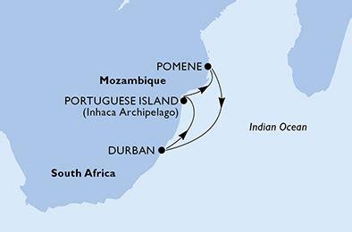 msc cruises msc musica 4 night south africa