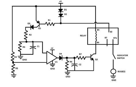 flasher unit circuit diagram circuit and schematics diagram