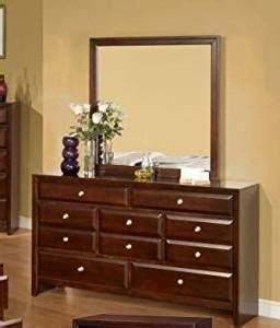 assembled bedroom dressers calvino solid wood construction fully assembled dresser mirror merlot finish