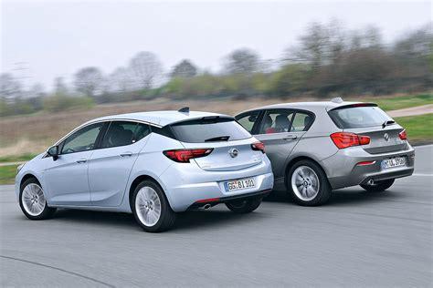 Bmw 1er Opel Astra opel astra vs bmw 1er bilder autobild de