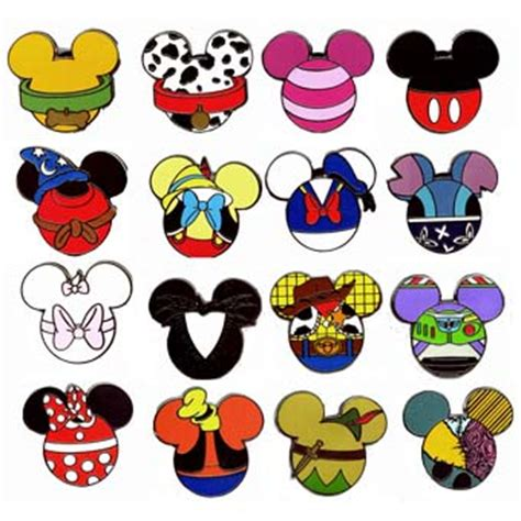 your wdw store disney mystery pin set mickey mouse