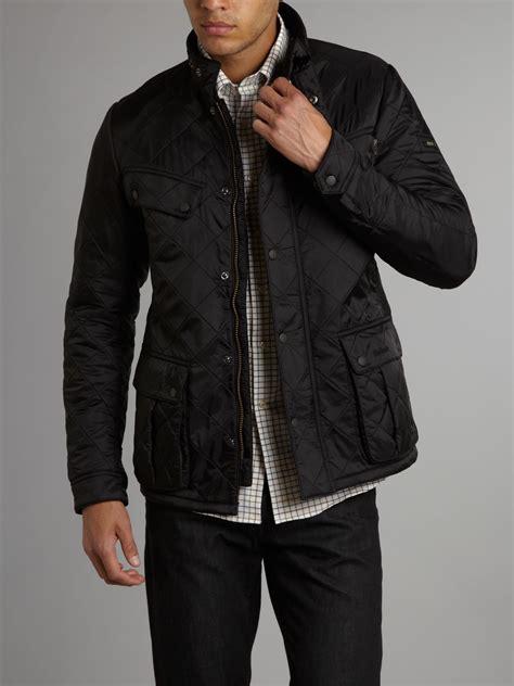 barbour quilted international ariel polar jacket in black