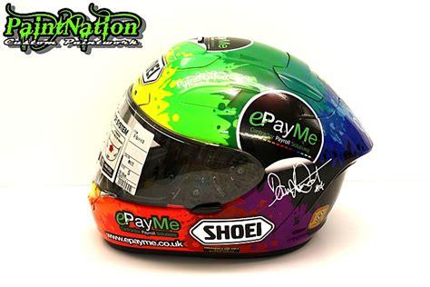 Helmet Arai Dan Shoei dan linfoot replica race helmets