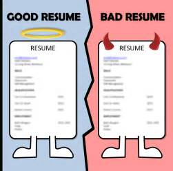exles of and bad resumes template design