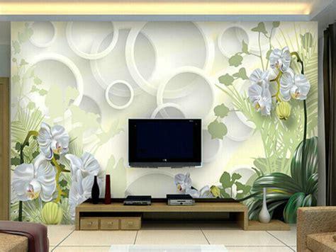 3d modern wall panels tv 3d personality circle sofa large wallpaper seamless