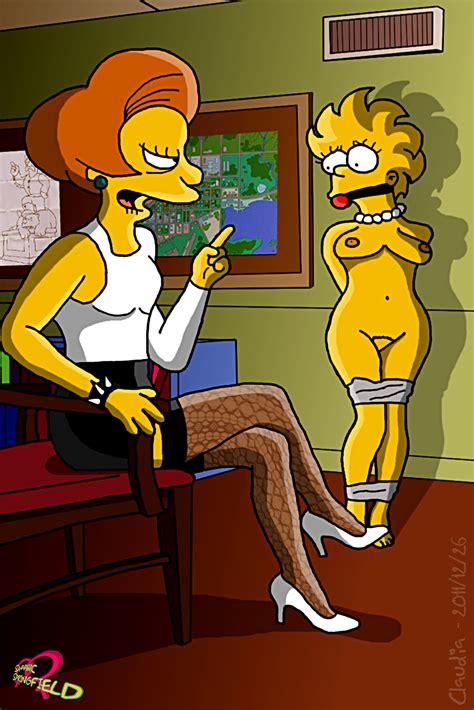 Pic Claudia R Edna Krabappel Lisa Simpson The Simpsons Simpsons Porn