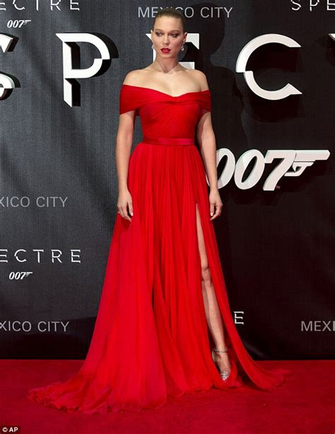 Lea Navy 007 spectre s lea seydoux and naomie harris attend bond