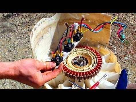 Free Power How To Convert An Old Washing Machine Into A
