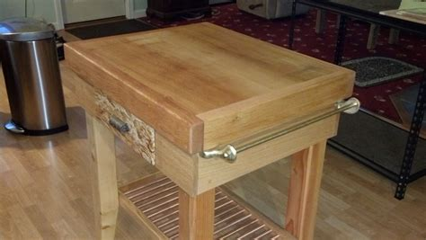 Rick's Butcher Block Island   The Wood Whisperer