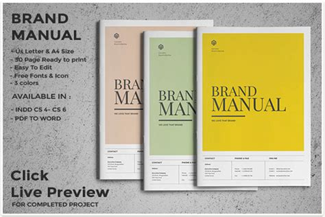 10 Professional Brand Manual Templates To Promote Brand Image Psd And Ai Free Download Brand Manual Template