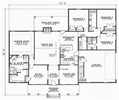 4 bedroom 3 bath open floor plan country style house plans 2493 square foot home 1 story 4 bedroom and 3 3 bath 2 garage